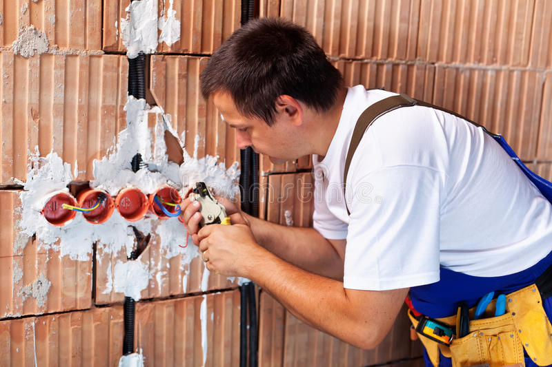 Download Electrician working stock image. Image of install, installation - 27029171