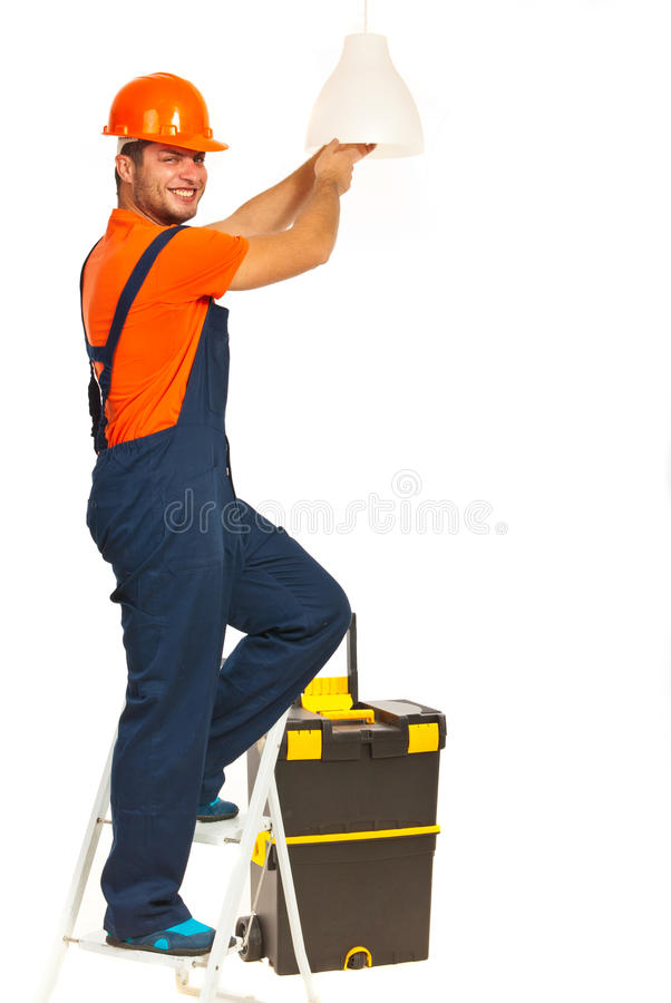 Electrician working royalty free stock photography
