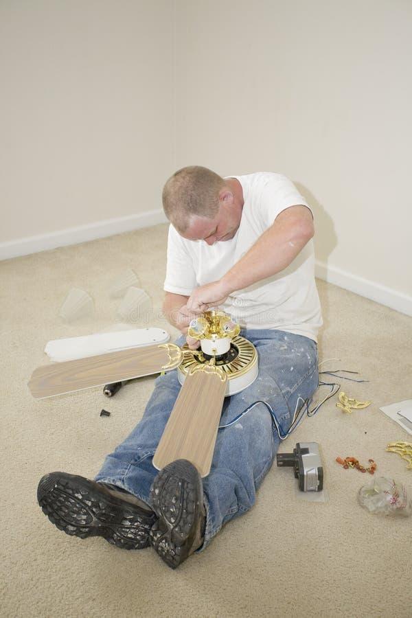 electrician working στοκ εικόνες