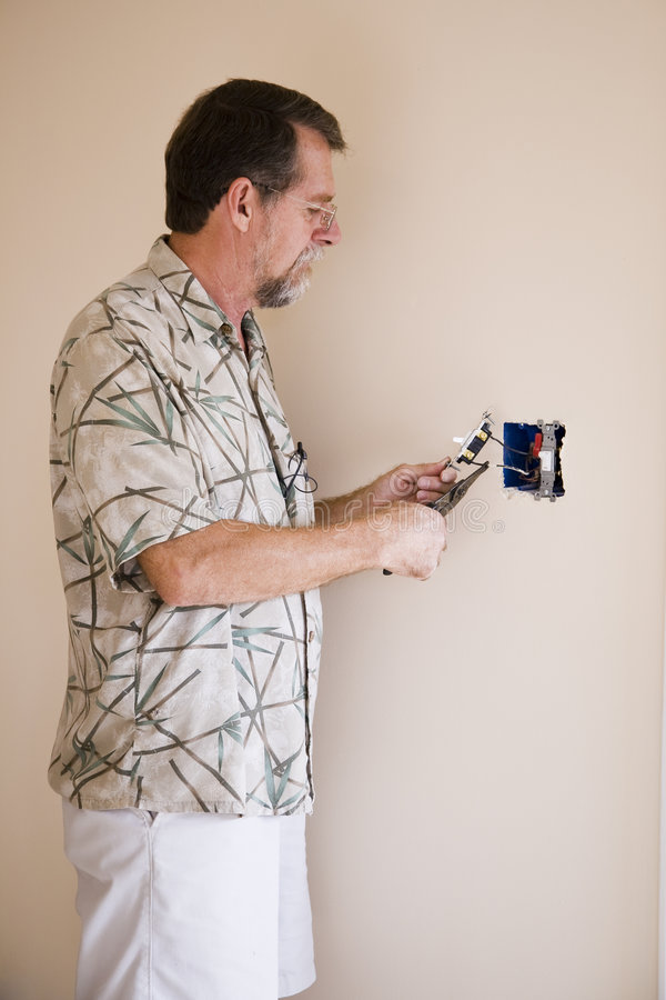 Electrician working royalty free stock image
