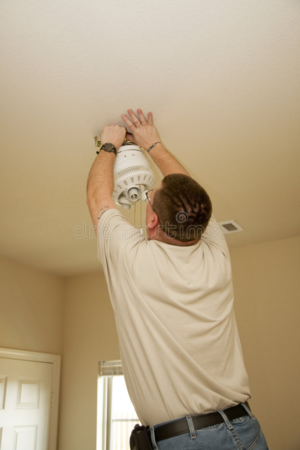 Electrician working royalty free stock images