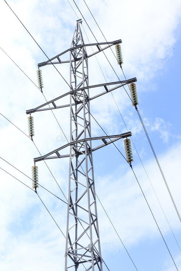 Electricidad, ayuda, voltaje, energía, poder, alto, línea, alambre, fotografía de archivo libre de regalías