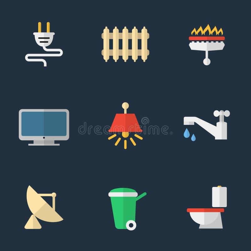 Electricidad, calefacción, agua y otras utilidades libre illustration