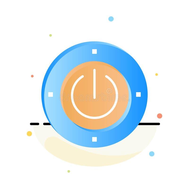Electricidad, energía, poder, plantilla plana abstracta computacional del icono del color libre illustration