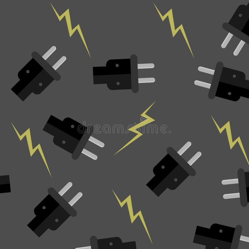 Electricidad inconsútil del modelo libre illustration