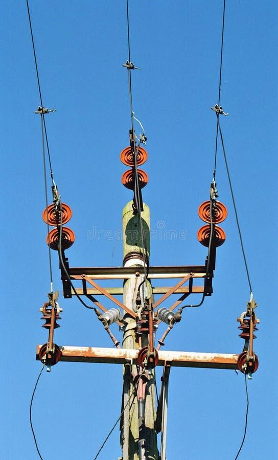Electricidad poste foto de archivo