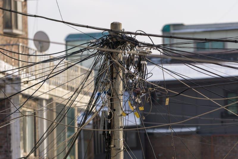 Electricidad poste fotos de archivo