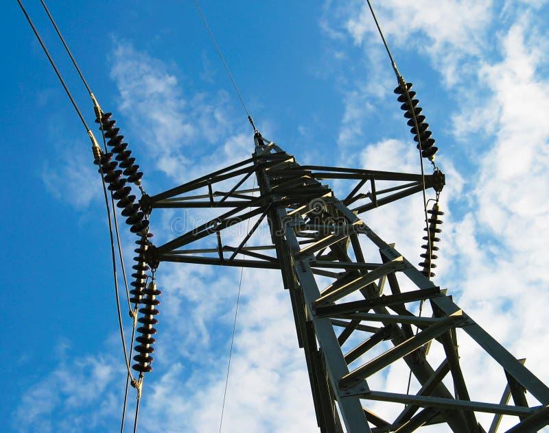 Electricidad postes fotos de archivo