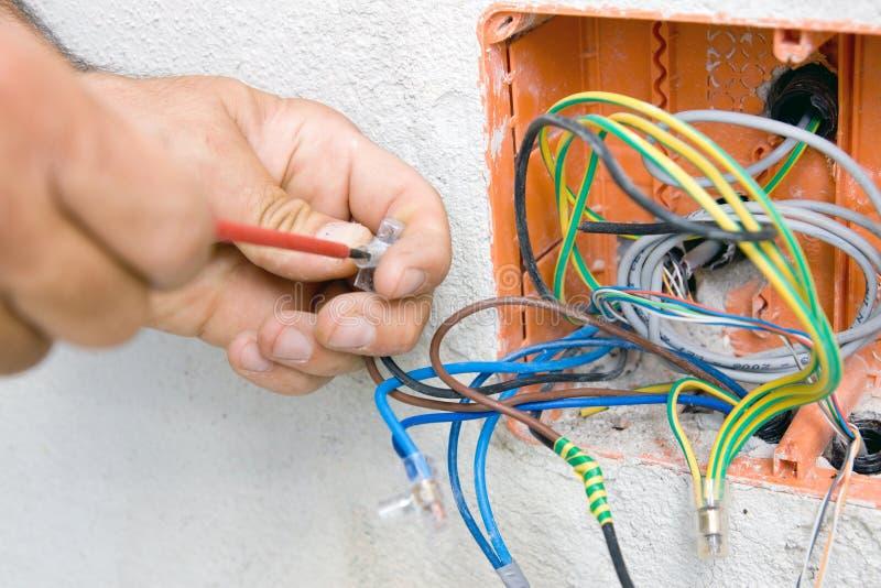 Electricista foto de archivo