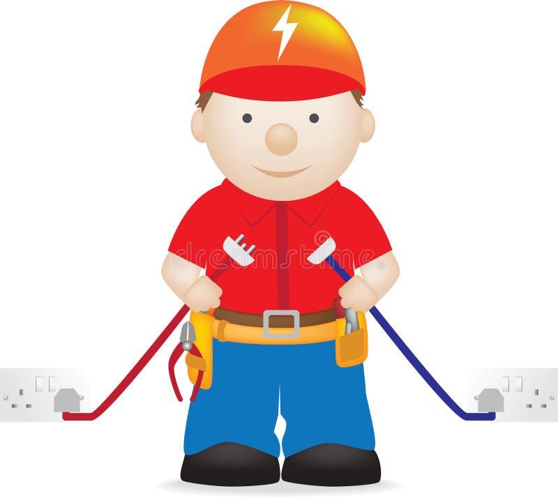 Electricista stock de ilustración
