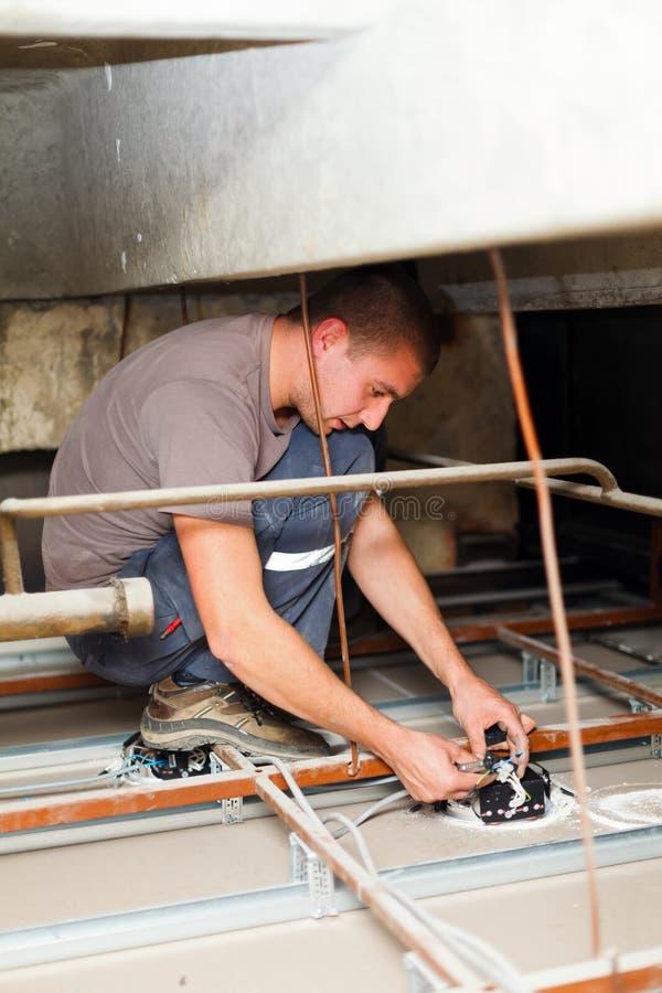 Electricista Fixing Devices foto de archivo libre de regalías