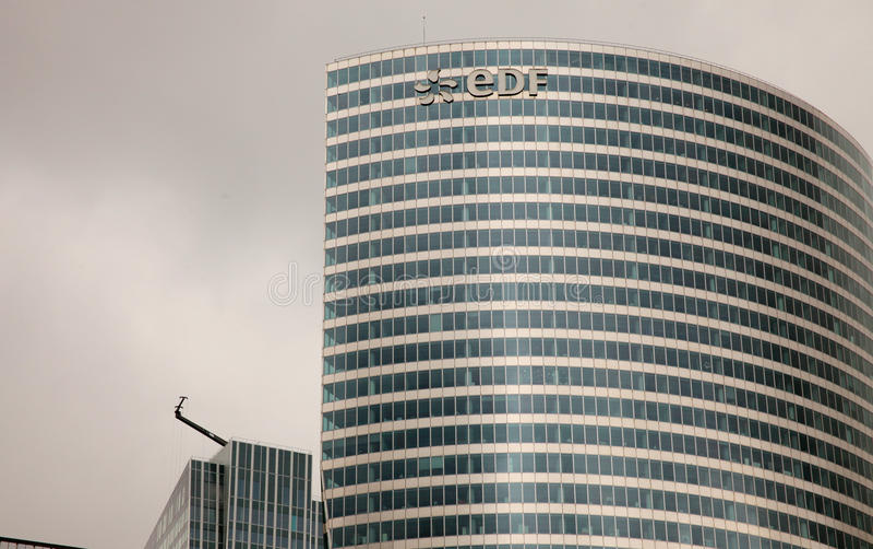 Electricite de Francja EDF obrazy royalty free