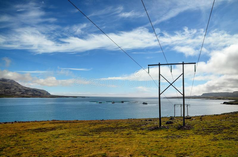 Electricity from coast stock images