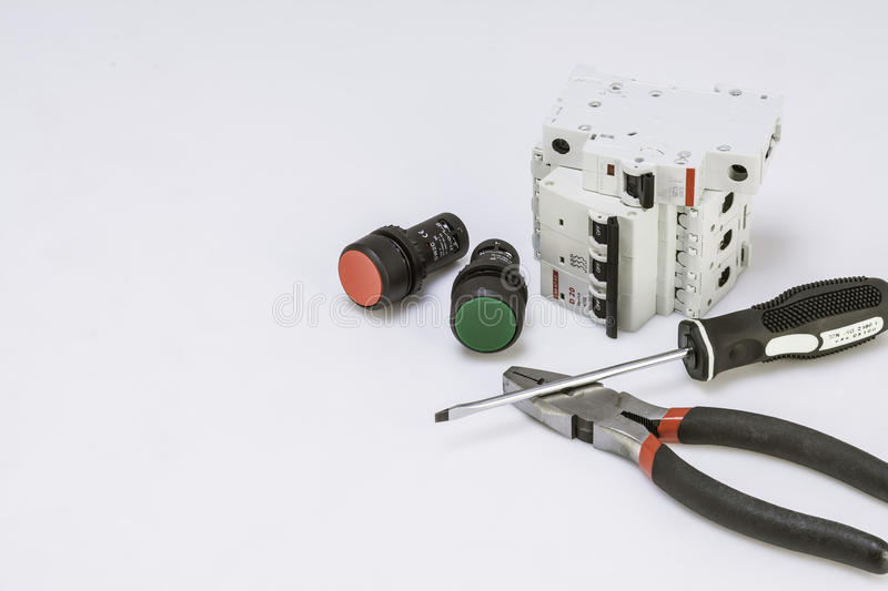 Electricity components royalty free stock photo
