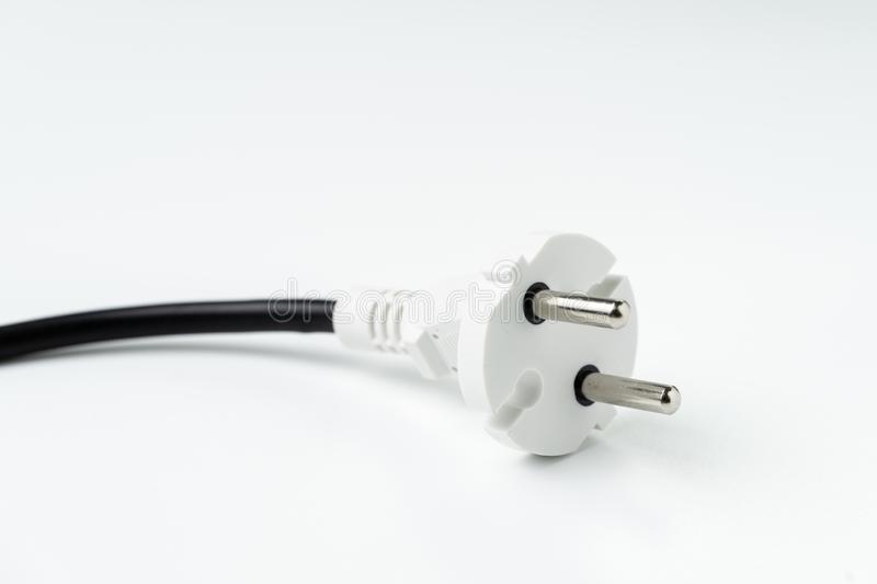 Electricity connector plug, power consume, eco or sustainability stock photo