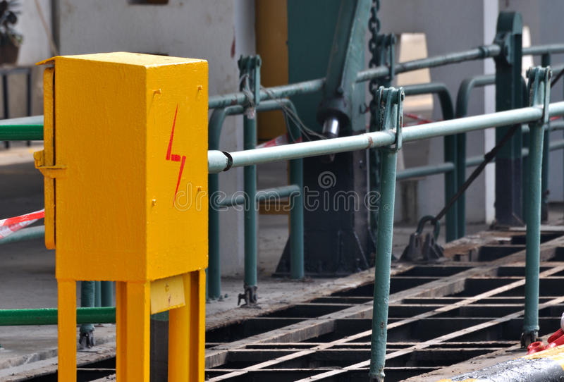 Download Electricity Control Box In Shipping Dock Stock Photo - Image: 22951768