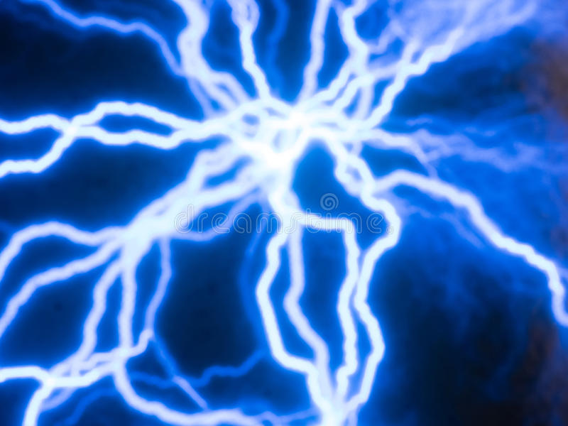Electricity currents. Picture of random glowing blue electric currents traces royalty free stock photo