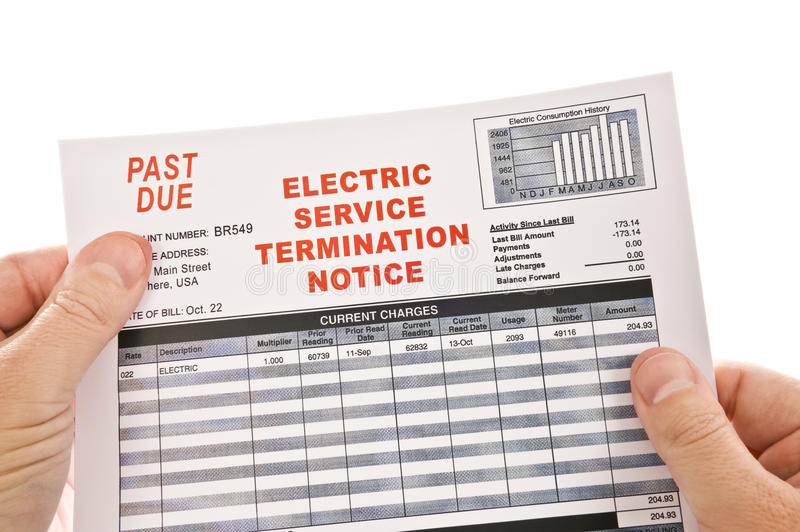 Electricity Cut-Off Warning royalty free stock photo