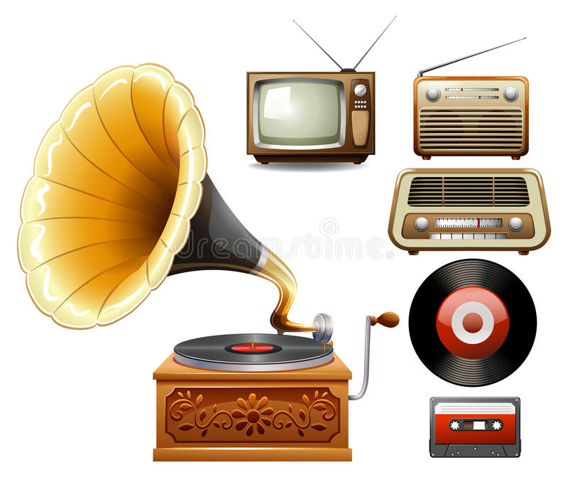 Electricity Devices In Old Time Stock Vector - Illustration of ...