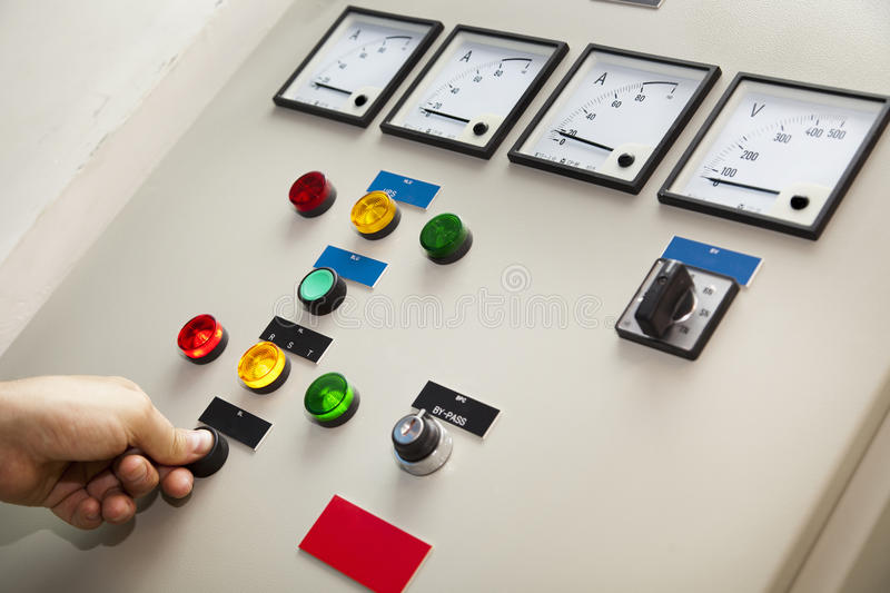 Electricity Control & Monitor royalty free stock images