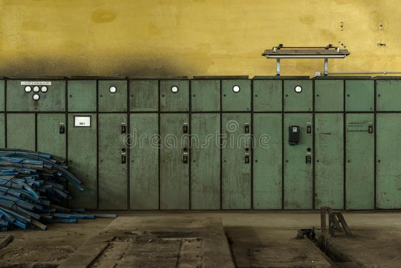 Download Electricity Distribution Hall In Metal Industry Stock Photo - Image: 34967814