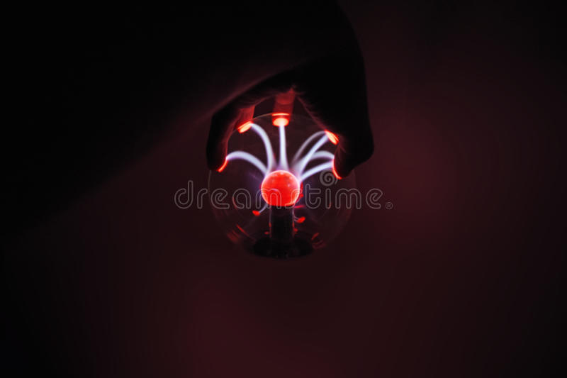 Electricity fire-ball. Photo of electric waves. Electricity fire-ball. Abstract photo of electric waves. Static electricity royalty free stock photo