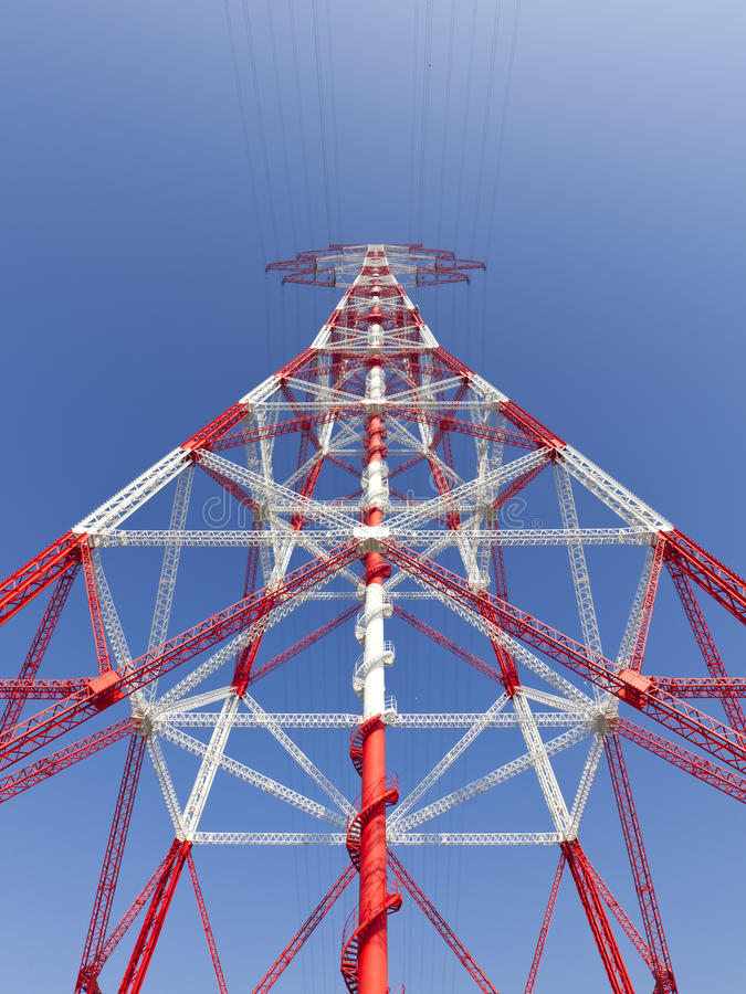 Download Electricity High Voltage Pylon Perspective View Stock Photo - Image: 39327184
