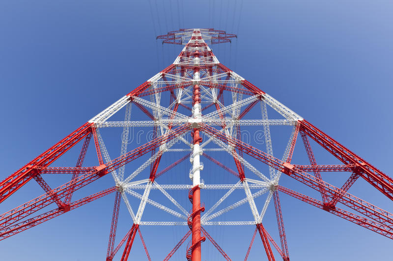 Download Electricity High Voltage Pylon Perspective View Stock Image - Image: 39327213