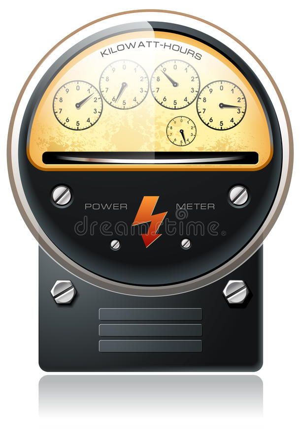 Electricity hydro power counter vector stock illustration