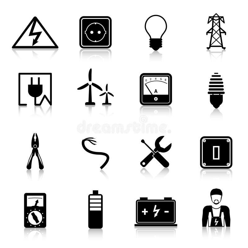 Electricity Icons Set stock illustration