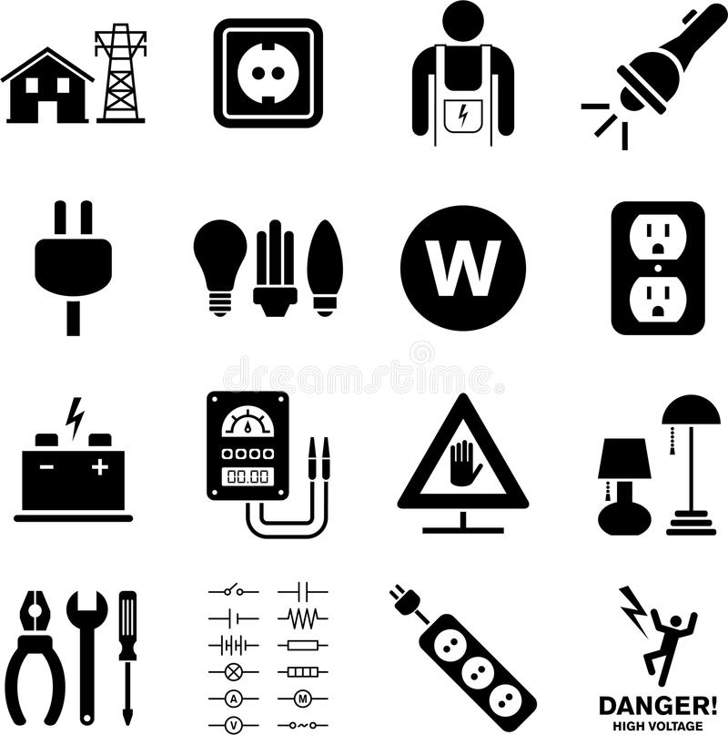 Download Electricity icons stock image. Image of energy, switch - 32966621