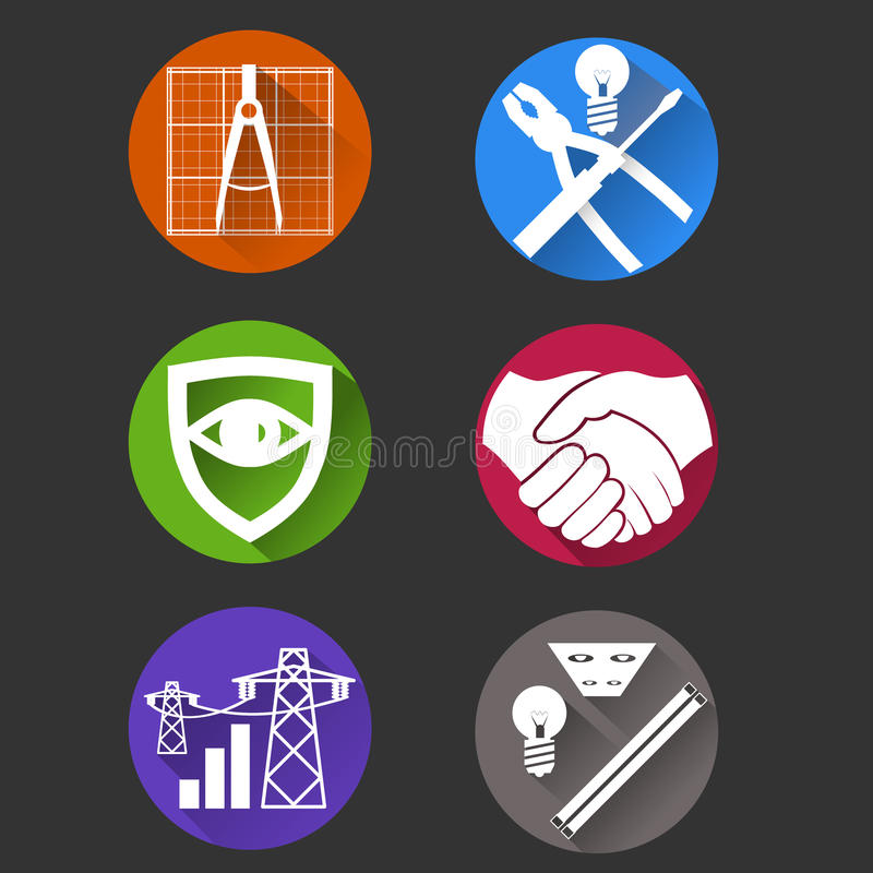 Download Electricity Icons Vector Royalty Free Stock Photos - Image: 33743868