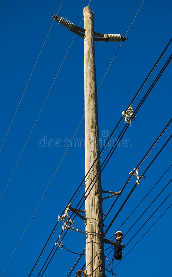 Electricity Lines And Blue Sky Royalty Free Stock Image