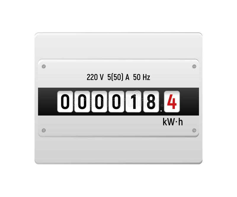 Electricity meter. stock photography