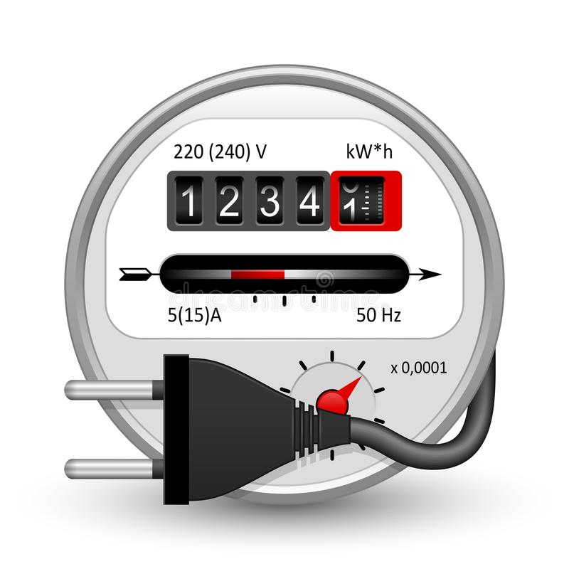 Energy Meter Icon : Electricity meter icon stock vector illustration of