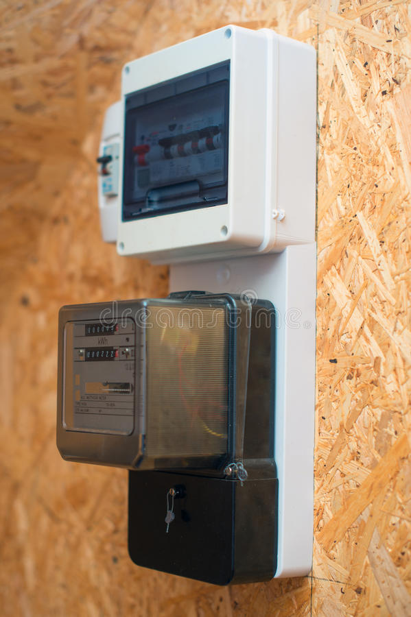 Electricity meter. royalty free stock photos