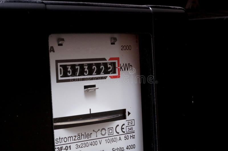 An electricity meter stock photography