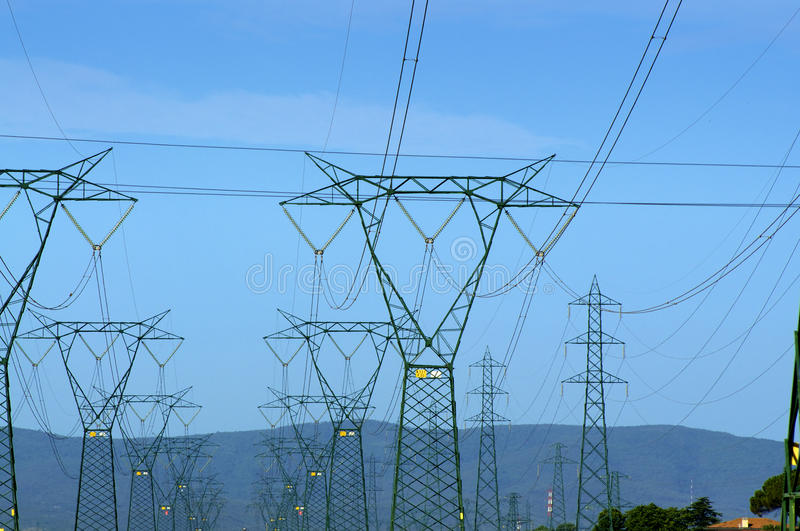 Electricity and nature royalty free stock image