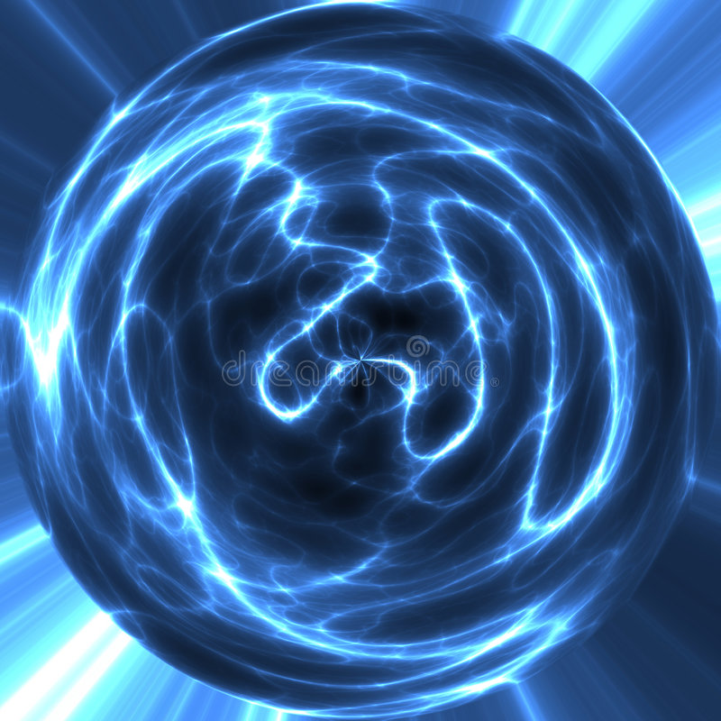 Electricity orb or ball stock image