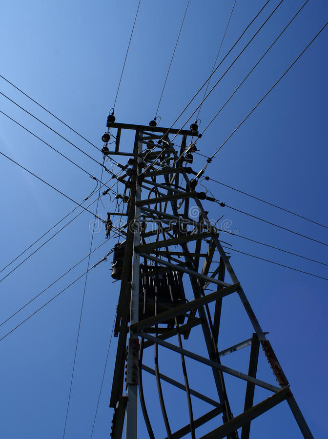 Power Lines Pole stock images