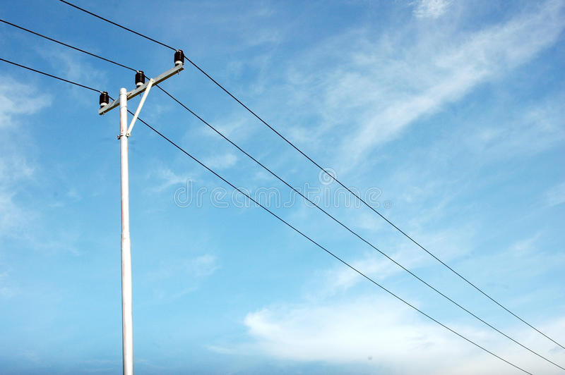 Download Electricity pole stock photo. Image of equipment, evening - 34438600