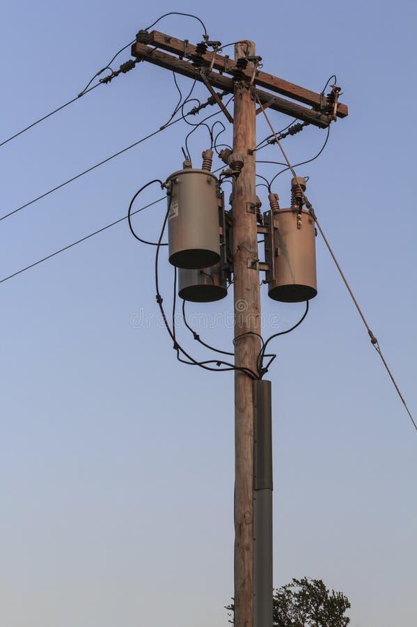 Electricity Pole stock photography