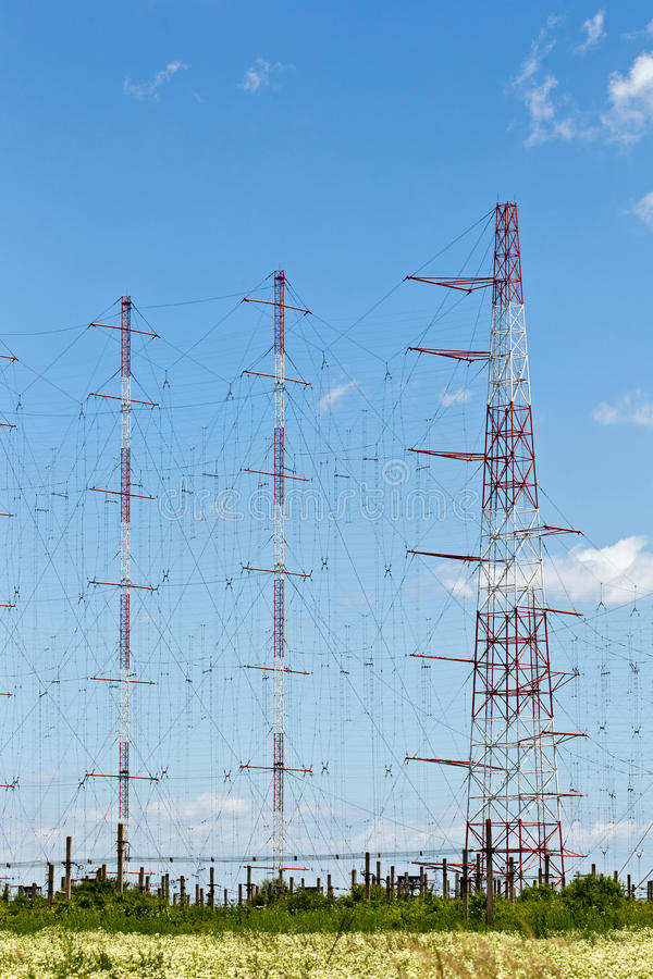 Download Electricity poles stock image. Image of connection, pole - 22616335