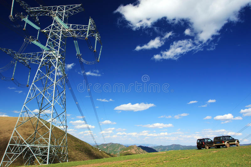 Download Electricity Poles And Vehicles Royalty Free Stock Photos - Image: 19857618