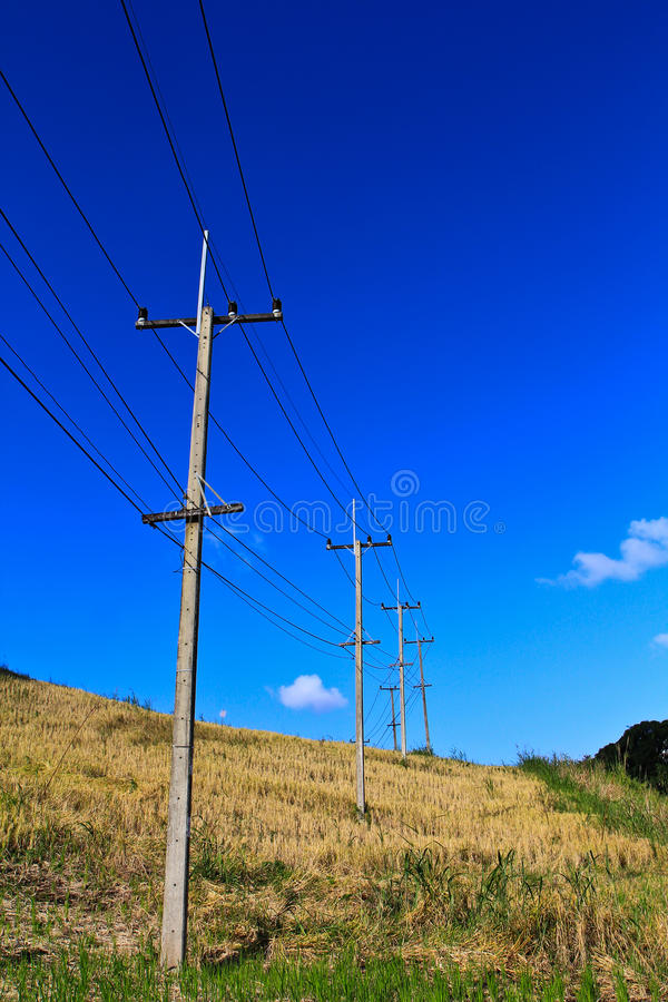 Download Electricity post stock image. Image of copy, hill, grass - 26354679