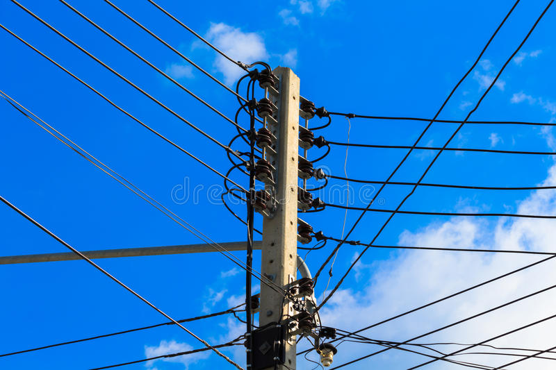 Electricity post royalty free stock photos