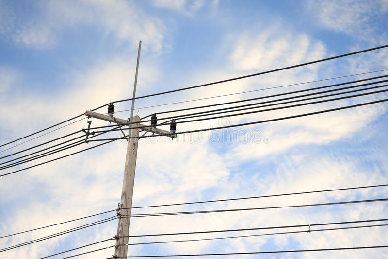 Electricity post stock image