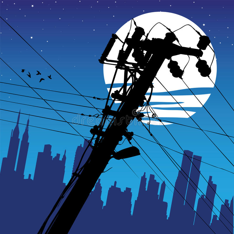 Electricity Pylon royalty free illustration