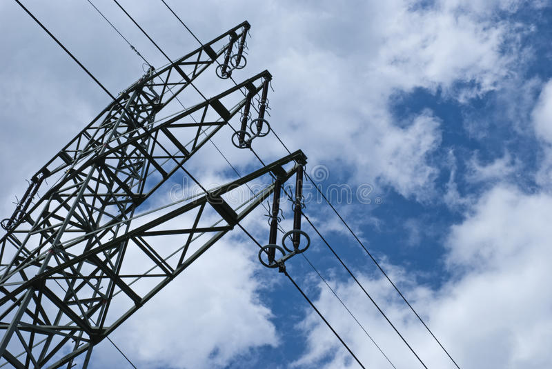 Download Electricity pylon stock image. Image of industry, three - 17723623
