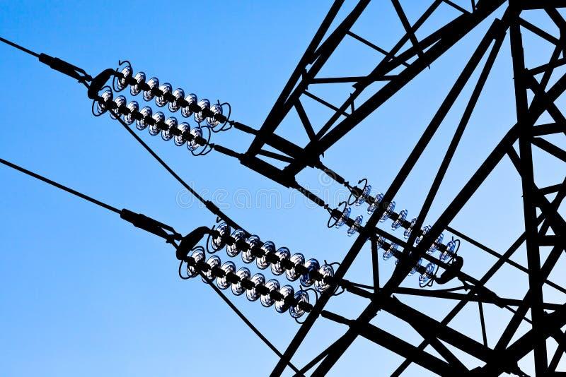 Electricity pylon stock photo